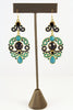 Bohemian, Multi-Color Blue Chandelier Earrings