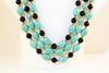 Turquoise, Beaded Layered Necklace & Earrings Set