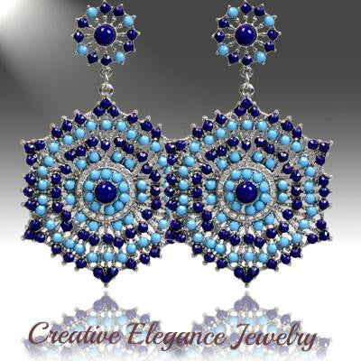 Bohemian, Royal Deep Bold Earrings