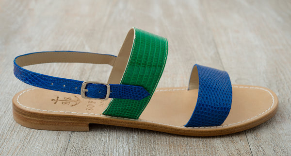 Via Acquaviva - Royal Blue and Palm Green