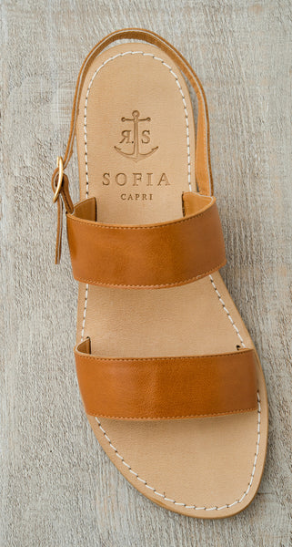 Sofia Capri sandals | Brown flats | Handmade in Capri
