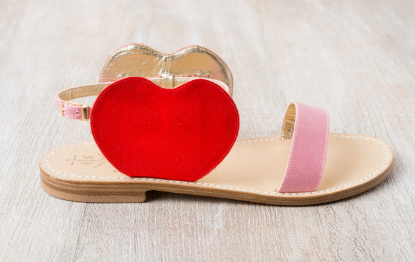 Via Arco Naturale - Pink and Red Satin Hearts