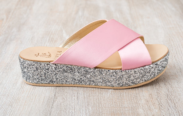 Via Cesina Wedge - Light Pink