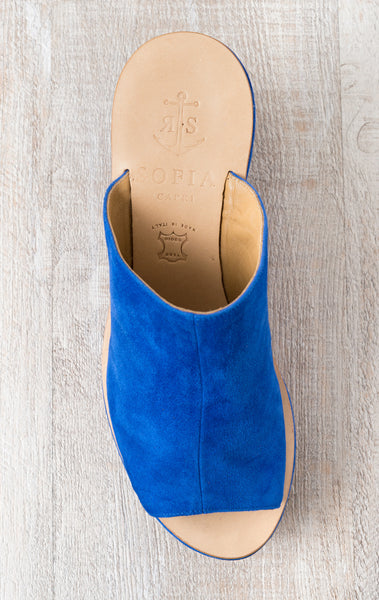 Sofia Capri  sandals | Blue wedges | Handmade in Capri