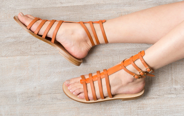 Sofia Capri sandals | Brown gladiator sandals for women | Handmade in Capri