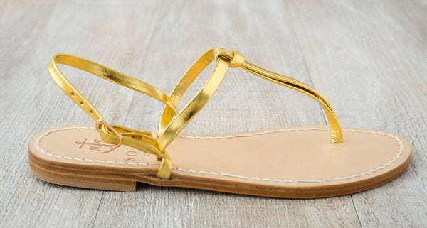 Sofia Capri  sandals | Gold sandals for women | Handmade in Capri