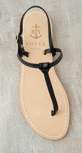 Sofia Capri  sandals | Black sandals for women | Handmade in Capri