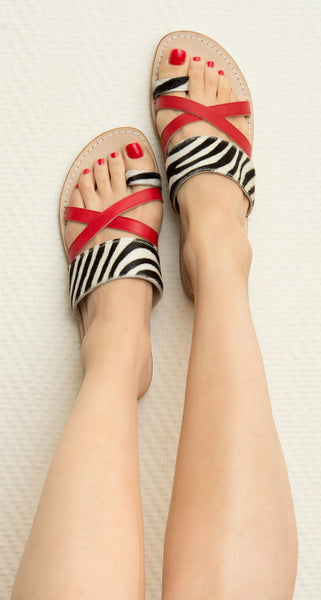 Zebra Printed Slides - Animal prints