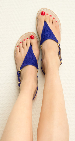 Sofia Capri sandals | Purple flats for women | Handmade in Capri