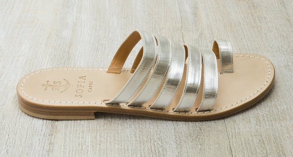 Via Vigna multi-strap sandals in Silver