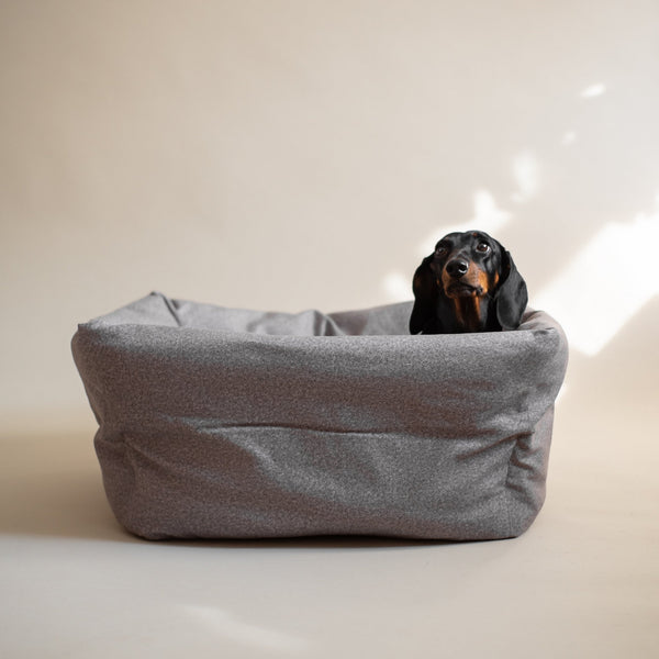 Dog bed quadro Pony grey