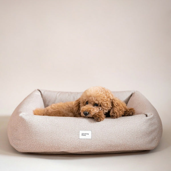 Dog bed quadro Pony beige