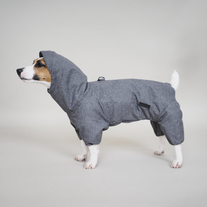 Dog overall pony jumpsuitony grey