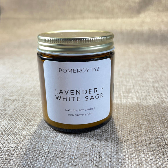 Pomeroy 142 Lavender + White Sage Candle medium jar