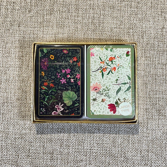 Playing Cards English Country Garden 2 Decks Large Type