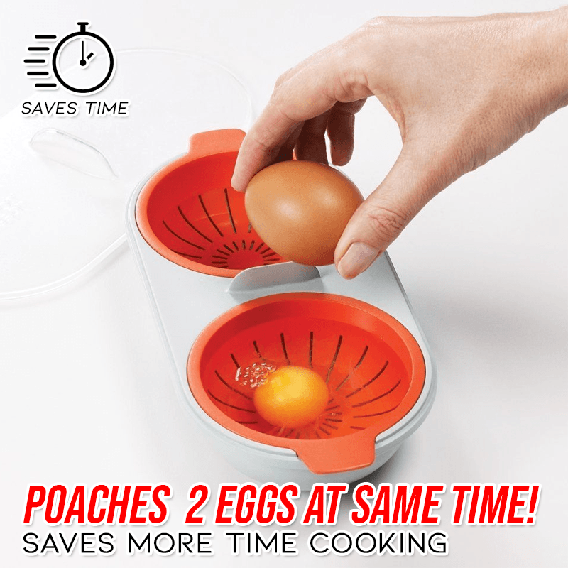Microwave BPA Free Double Egg Poacher