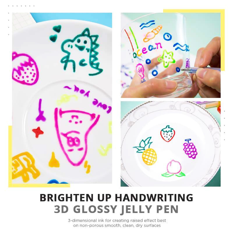 2020 New 3D Glossy Jelly Ink Pen