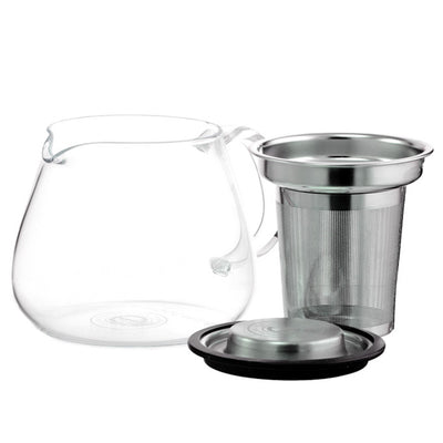 Glass Tea Pot With Stainless Steal Infuser - Affect Health