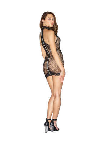 Image of Dreamgirl Chemise Black