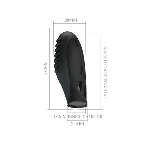"Image of Fingering Vibe ""Gilo"" Black (78mmx21mm)"