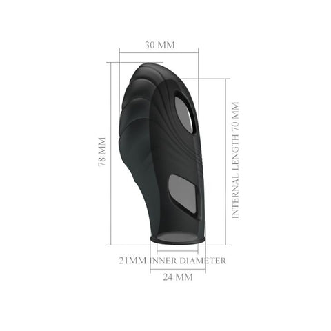 "Image of Fingering Vibe ""Lich"" Black (78mmx24mm)"