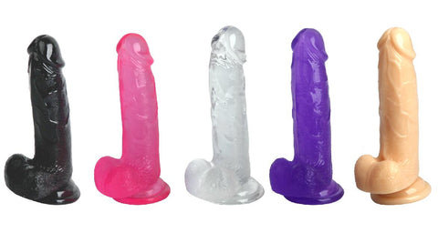 Image of Realistic Crystal Suction cup dildo 7.5inch