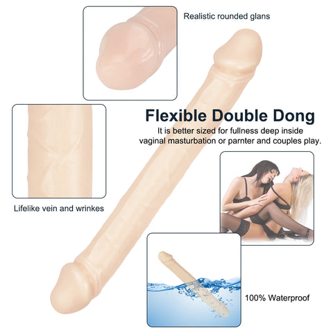 Image of Double end realistic veined dildo