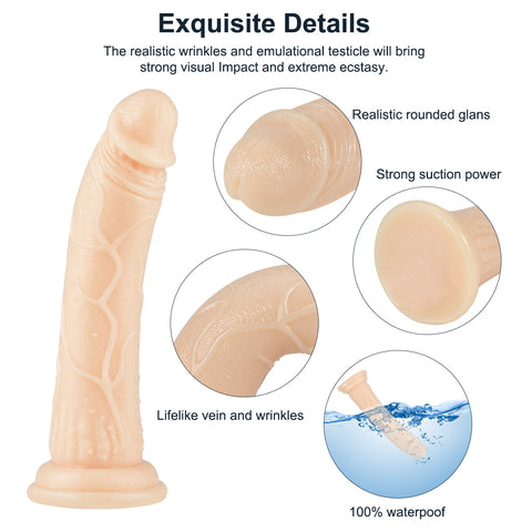 Image of Realistic Crystal Suction cup dildo 8.6 inch