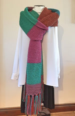 Load image into Gallery viewer, THE DARK DOCTOR LONG DR WHO TYPE SCARF VERY LONG