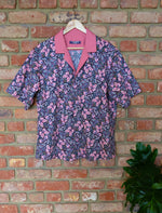 Load image into Gallery viewer, PINK BUTTERFLY CONTRAST COTTON SHIRT