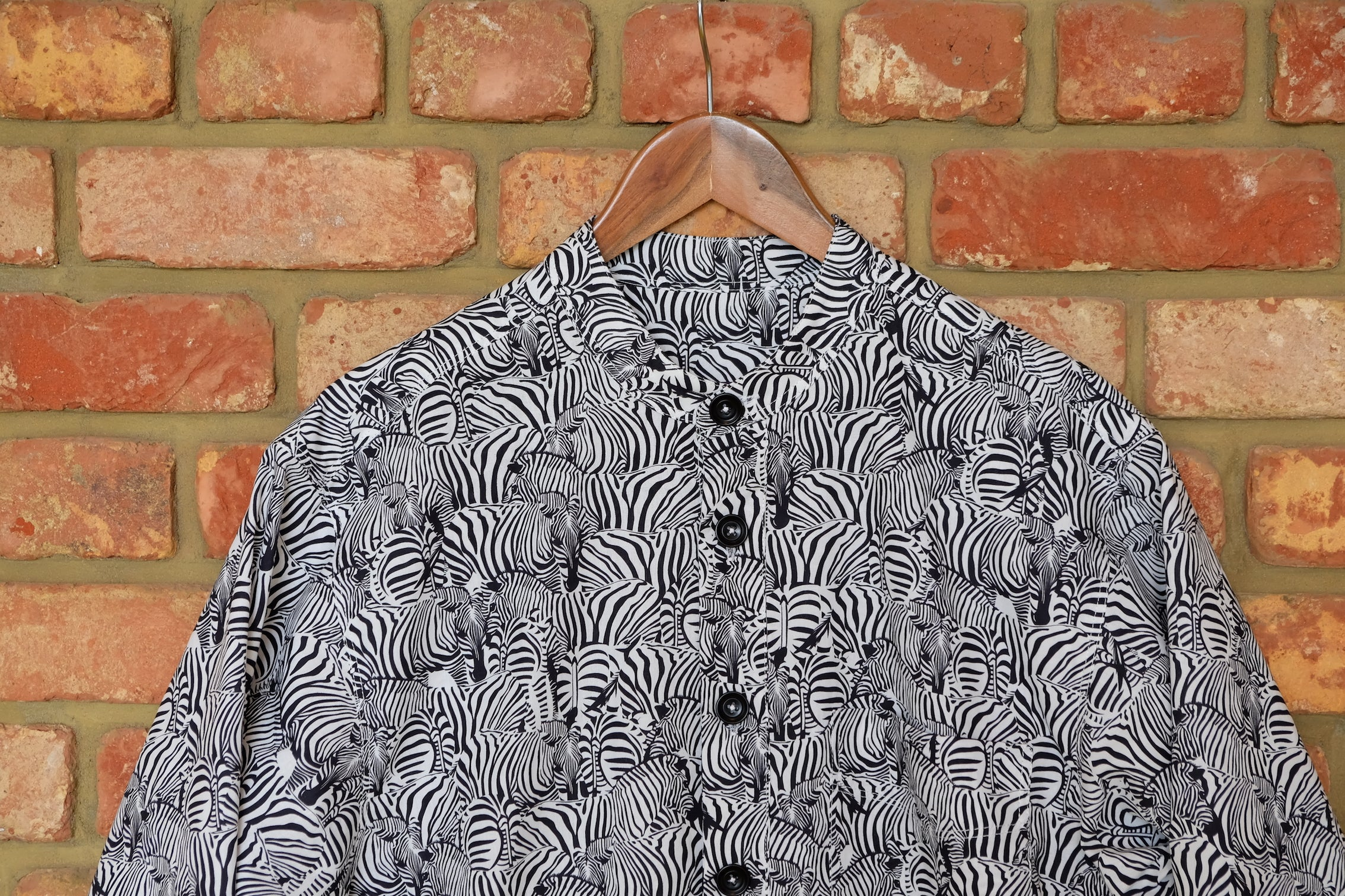 Zebra Oversize Cotton Shirt