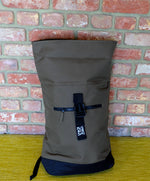 Load image into Gallery viewer, Military Green Roll Top Bag