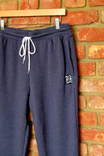 Load image into Gallery viewer, Cotton Fleece Unisex Jogger pants - HEATHER NAVY
