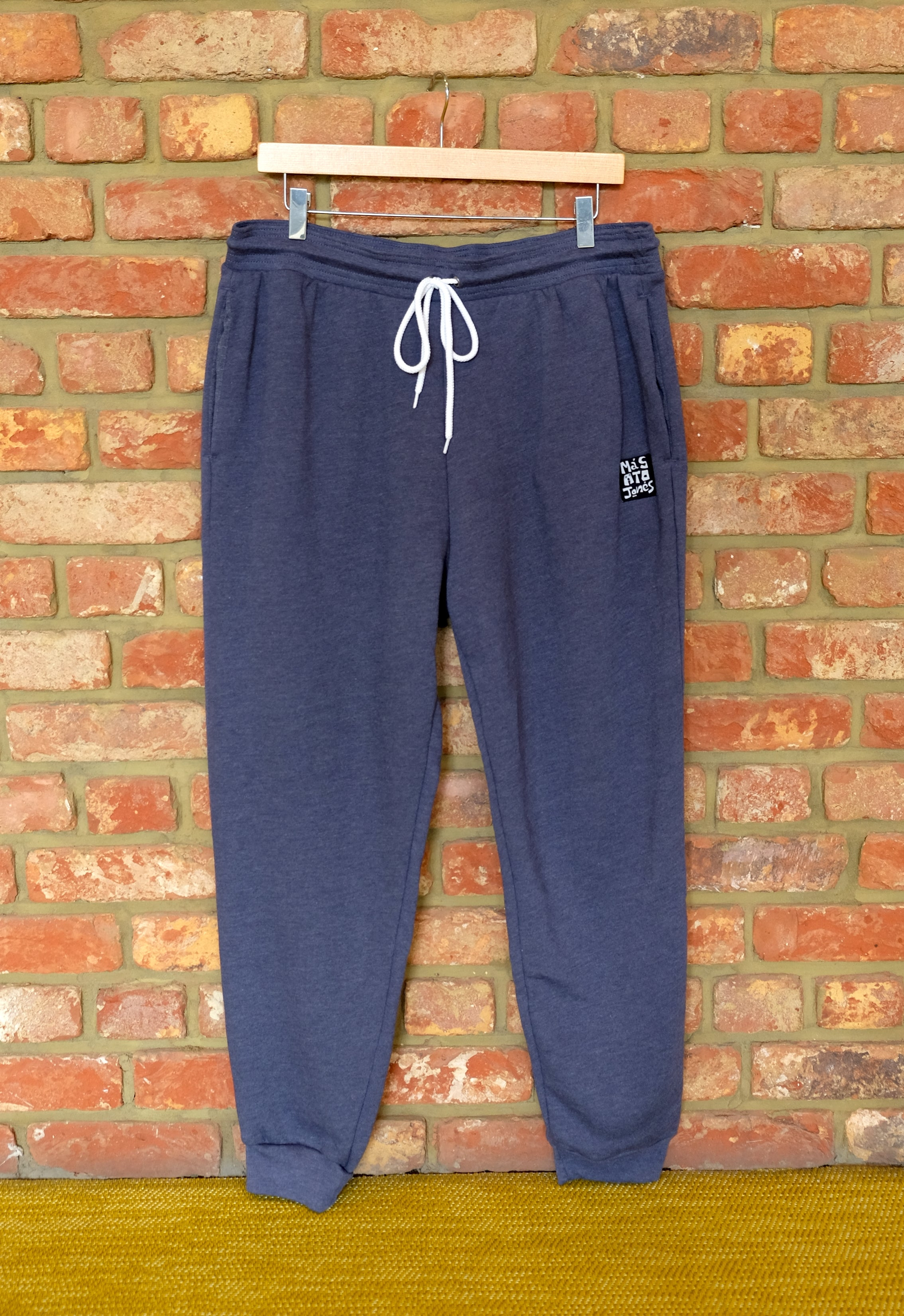 Cotton Fleece Unisex Jogger pants - HEATHER NAVY