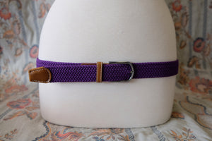 Purple braid stretch belt