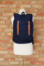 Load image into Gallery viewer, French Navy Canvas Rucksack