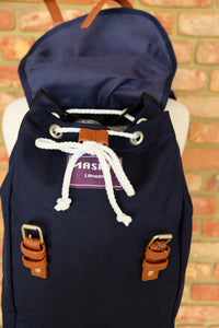 French Navy Canvas Rucksack