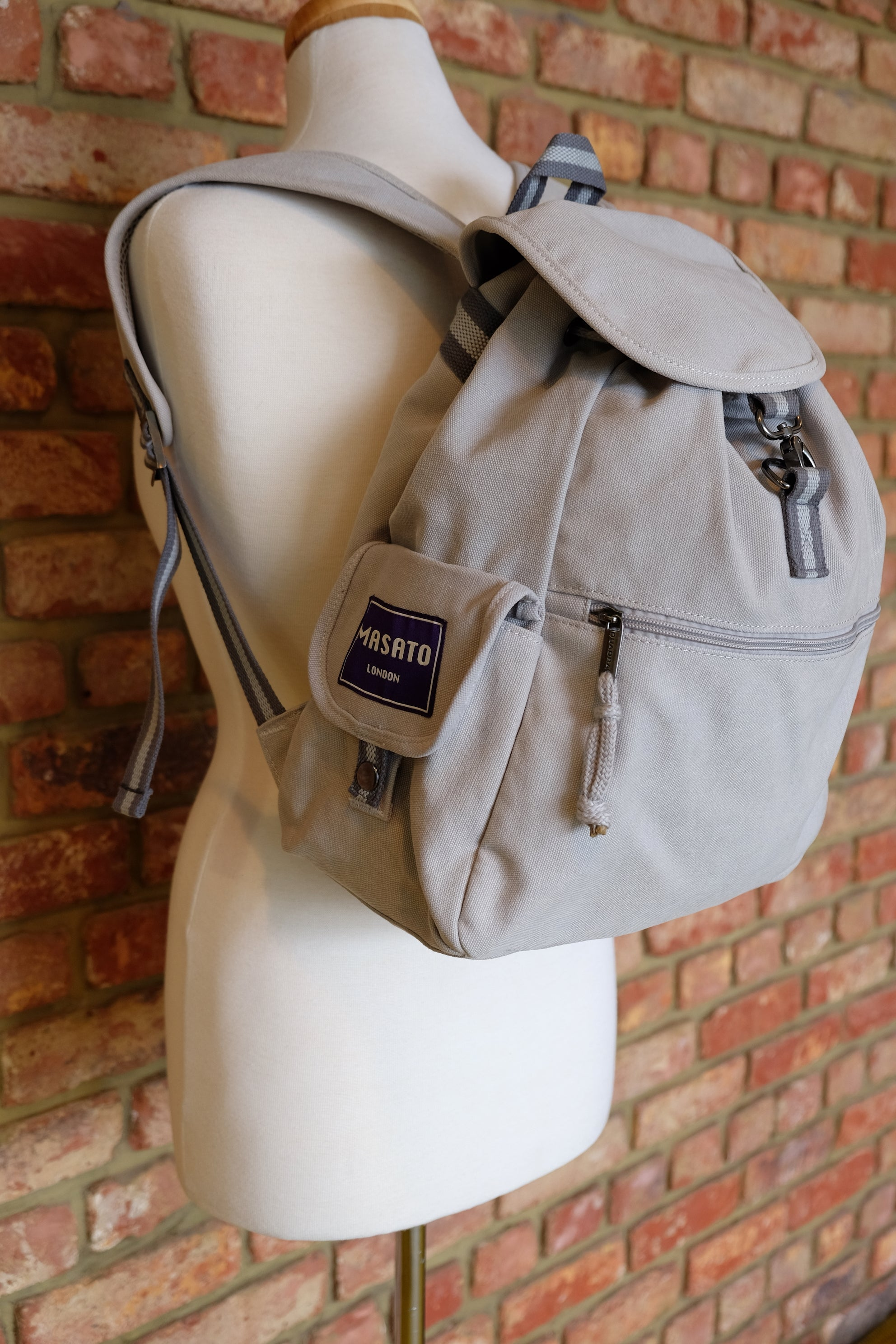 Light Grey Adventure Canvas backppack