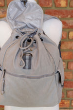 Load image into Gallery viewer, Light Grey Adventure Canvas backpack
