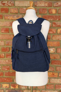 Oxford Navy Adventure Canvas Backpack
