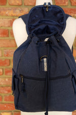 Load image into Gallery viewer, Oxford Navy Adventure Canvas Backpack