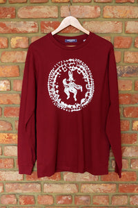 "Burgundy ""Rabbit Lore"" Long Sleeve Tee"