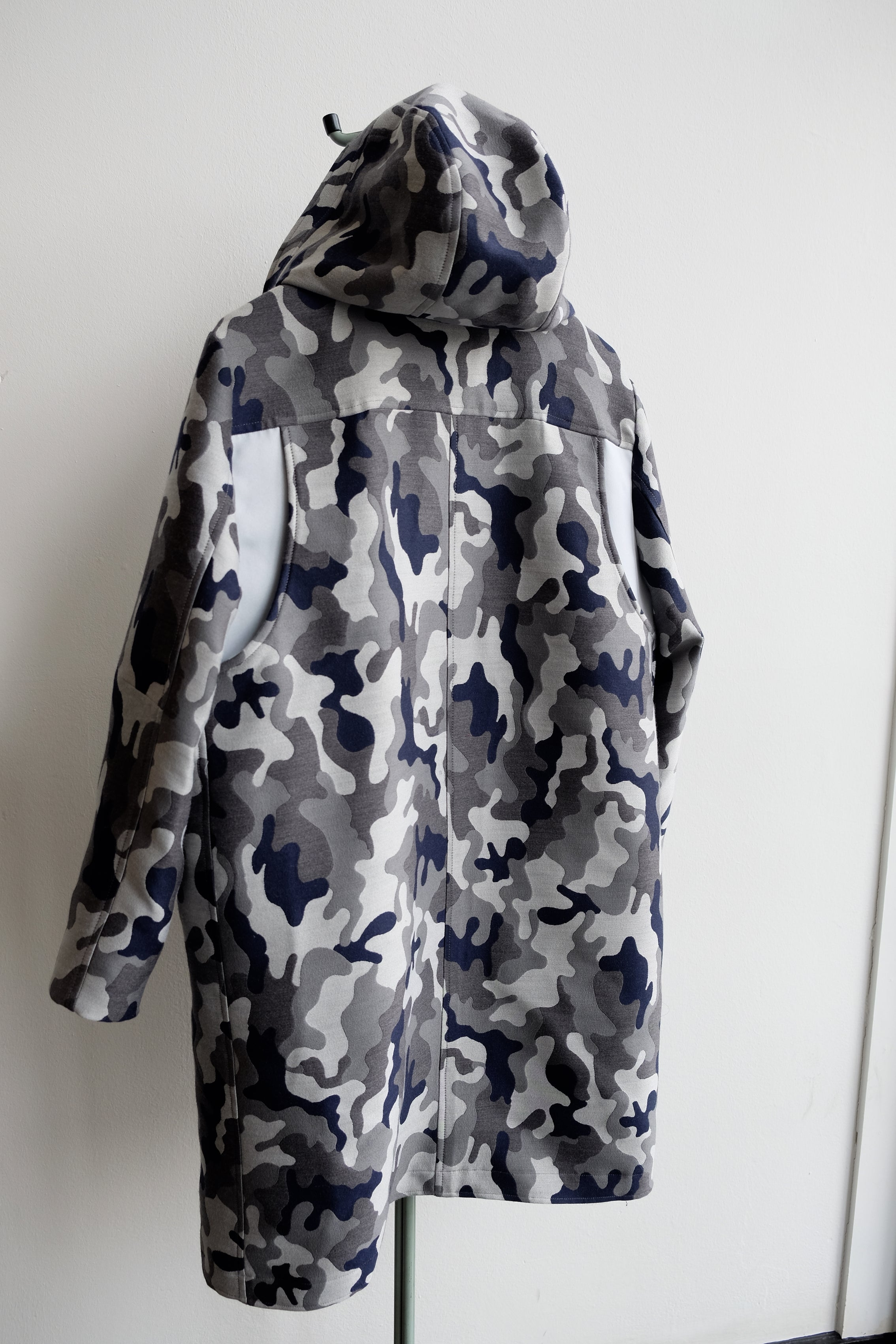 Snow Dust Camouflage Hoody wool Coat
