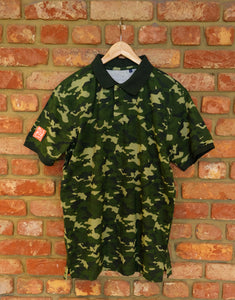 Forest Camo Cotton Polo Shirt