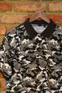 Midnight Camo Cotton Polo Shirt