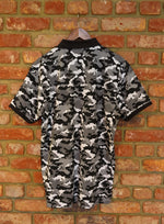 Load image into Gallery viewer, Midnight Camo Cotton Polo Shirt