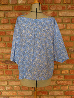 Load image into Gallery viewer, Blue Elephant Cotton Bias Top
