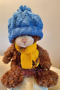 CHILD'S BLUE TEXTURED BEANIE