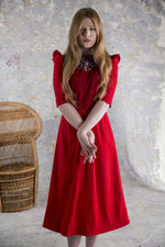 Carica l'immagine nel visualizzatore di Gallery, APRIL LACE RED DRESS