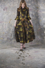 Load image into Gallery viewer, MONE JACQUARD FULL SKIRT DRESS